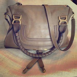 Chloe Medium Marcie Leather Satchel